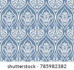 vector damask seamless pattern... | Shutterstock .eps vector #785982382
