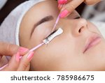 eyelash removal procedure close ... | Shutterstock . vector #785986675