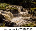 amazing cenarth falls after... | Shutterstock . vector #785987968