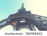 the eiffel tower in paris ... | Shutterstock . vector #785989822