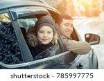 happiness caucasian smilling... | Shutterstock . vector #785997775