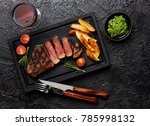 meat picanha steak  traditional ... | Shutterstock . vector #785998132
