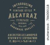 """alcatraz"".  vintage gothic... | Shutterstock .eps vector #786000118"