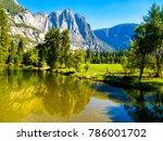 river in yosemite park.  | Shutterstock . vector #786001702