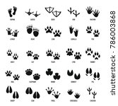Animal Footprint Icons Set....