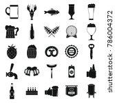 beer icons set. simple...   Shutterstock . vector #786004372