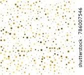 gold stars. confetti... | Shutterstock .eps vector #786007546