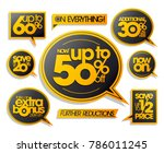 sale vector stickers and speech ... | Shutterstock .eps vector #786011245