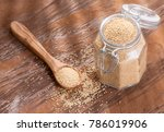 amaranth seeds on the wooden... | Shutterstock . vector #786019906