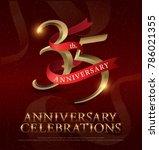 35th years anniversary... | Shutterstock .eps vector #786021355