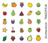 fruits line icon for print and... | Shutterstock .eps vector #786029518