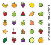 fruits line icon for print and... | Shutterstock .eps vector #786029545