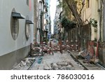 view of a derelict inner city... | Shutterstock . vector #786030016
