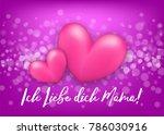 i love you mom  mommy german  ...   Shutterstock .eps vector #786030916