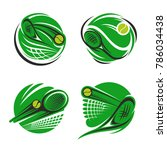 tennis sport symbol of sporting ... | Shutterstock .eps vector #786034438