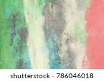 wall painting. handmade.... | Shutterstock . vector #786046018
