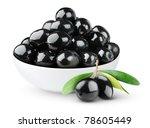 Isolated Olives. Black Olive...