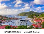 gustavia  saint barthelemy...   Shutterstock . vector #786055612