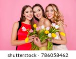 pretty  nice  charming ... | Shutterstock . vector #786058462