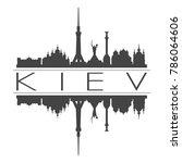 kiev ukraine europe skyline...   Shutterstock .eps vector #786064606