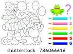 mathematical worksheet for... | Shutterstock .eps vector #786066616