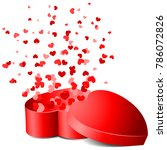 heart gift box with hearts... | Shutterstock .eps vector #786072826