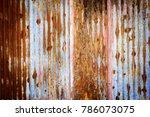 old zinc background. | Shutterstock . vector #786073075
