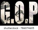 gop  american politics  | Shutterstock . vector #786074605
