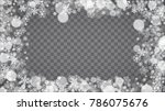 isolated snowflakes on... | Shutterstock .eps vector #786075676