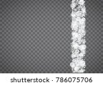 blizzard snowflake on... | Shutterstock .eps vector #786075706