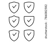 secure icon  shield icon set ...   Shutterstock .eps vector #786082582