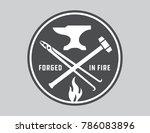 Blacksmith Vector Emblem Or...