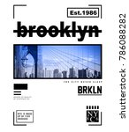 typography with new york photo... | Shutterstock . vector #786088282