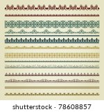 set of vintage borders. could... | Shutterstock .eps vector #78608857