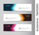 vector abstract banner design... | Shutterstock .eps vector #786090895