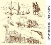 wild west | Shutterstock .eps vector #78609391