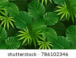 spring green leaves seamless... | Shutterstock .eps vector #786102346