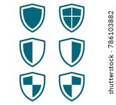 shield icon set  protect guard...   Shutterstock .eps vector #786103882