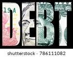 debt and money  united states... | Shutterstock . vector #786111082