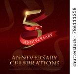 5th years anniversary... | Shutterstock .eps vector #786111358