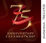 75th years anniversary... | Shutterstock .eps vector #786111928
