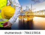 engineering concept in office... | Shutterstock . vector #786115816