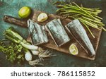 Food Background With Raw...
