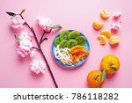 vietnamese food for tet holiday ... | Shutterstock . vector #786118282