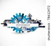 gears vector background with... | Shutterstock .eps vector #78612472