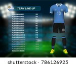 uruguay soccer jersey kit with... | Shutterstock .eps vector #786126925