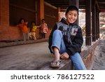 bhaktapur  nepal    november 11 ... | Shutterstock . vector #786127522