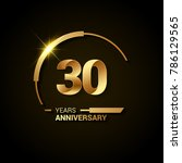 30 years anniversary... | Shutterstock .eps vector #786129565