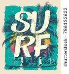 vector design. surf typography...   Shutterstock .eps vector #786132622