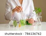 the scientist dermatologist... | Shutterstock . vector #786136762